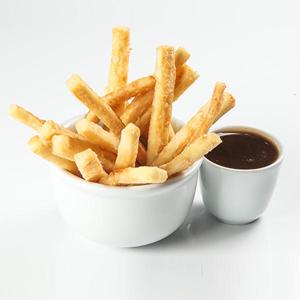 Queijo Coalho frito com melado